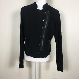 Romeo & Juliet Black Asymmetrical Zip Jacket